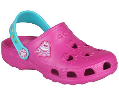Coqui Pantofi pentru copii Little Frog 8701 Magenta/Aqua 101960