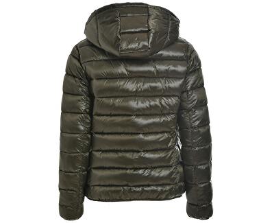 Femeia Jacket Print ed Jack și Reversib B64880 Olive Grey
