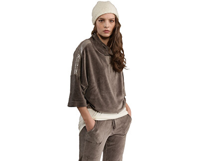 Dámský svetr Velour Swing Sweatshirt B64512 Walnut Brown