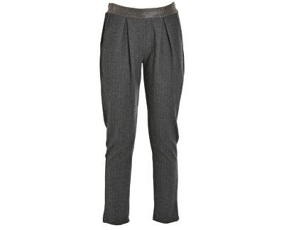 Dámské kalhoty Pants D63445 Herringbone Grey/Bla