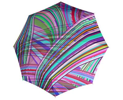 Dámsky plne skladací automatický dáždnik Carbon steel Magic Illumination 744865IL01