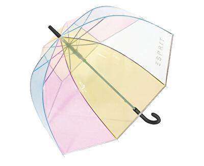 Női botesernyőLong AC Domeshape Transparent Rainbow
