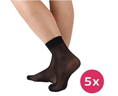 Női zokni Napolo 999 fekete 5 csomag