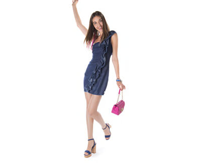 Rochie Claude-Denim Dress