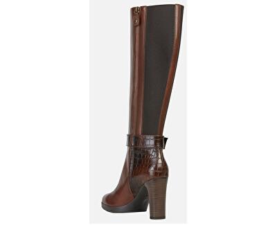 Dámske topánky D Annya High Brown D94AED-0436Y- C001 3