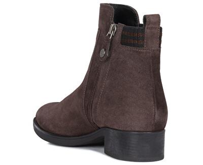 Dámske členkové topánky D Felicity Dk Coffee D94G1G-00022-C6024