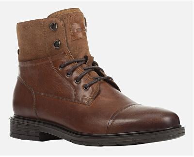 Pánské kotníkové boty U Alberick Cognac U947SA-0FF22-C6001