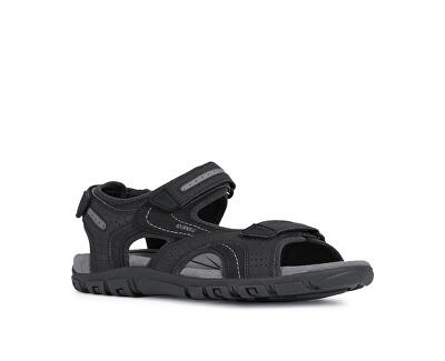 Pánske sandále Uomo Sandal Strada D Black/Stone U8224D-050A-C9310