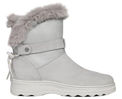 Dámske snehule D Hosmos B Abx Lt Grey / Silver D84AUC-0322N-C1355