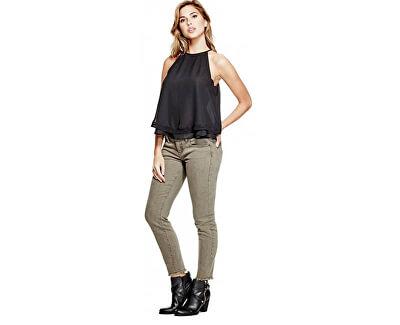 Pantaloni pentru femei Lillie Ankle Skinny Jeans Dry Moss