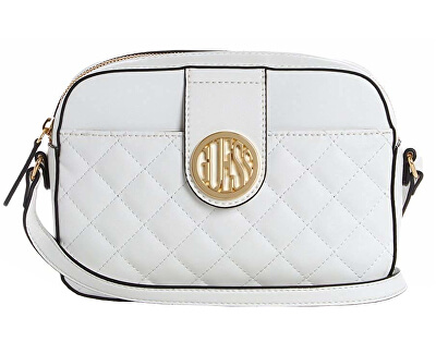 Dámska crossbody kabelka Factory Plush Quilted Camera Crossbody White