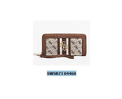 Guess Doamnelor wallet Guess Vintage Slg Lrg Zip Arnd Brown-Bro