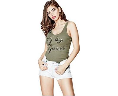 Guess Tricou pentru femei G by GUESS Amma Logo Tank Green