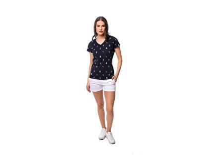 Damen T-Shirt Mokka sailing SL