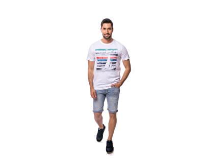 Herren T-Shirt Maroso white C3S20109WH