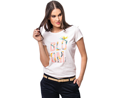 Damen T-Shirt Mano ecru C4S20366EC