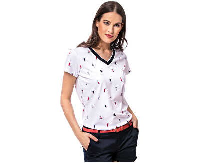 Damen T-Shirt Mokka white WH