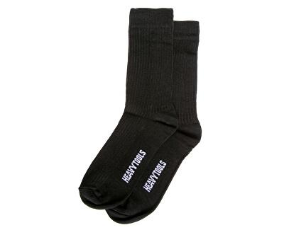 2 PACK - pánské ponožky Black H2W19613BL