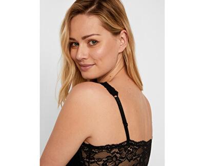 Női hálóing PCJASMIN NIGHT DRESS Black