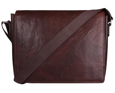 Pánská kožená taška 40036 Dark Brown