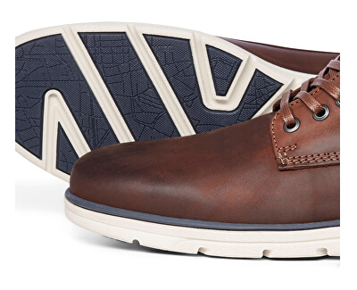 Pánske členkové topánky JFWTUBAR LEATHER BRANDY STS Brand y Brown
