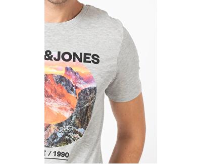 T-shirt da uomo JJBARISTA 12175196 Light Grey Melange