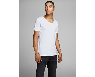 T-shirt da uomo JJEBASIC SCOLLO TEE 12059219 OPT WHITE