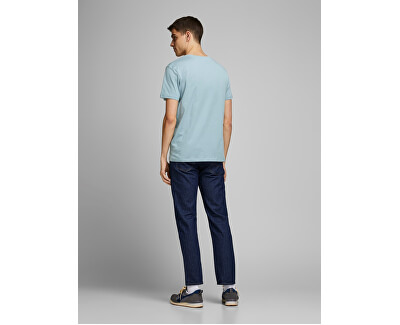Férfi póló JORCAFE TEE CREW NECK Ashley Blue SLIM