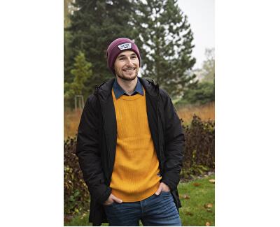 Pánsky sveter JORPANNEL KNIT NECK Sunflower