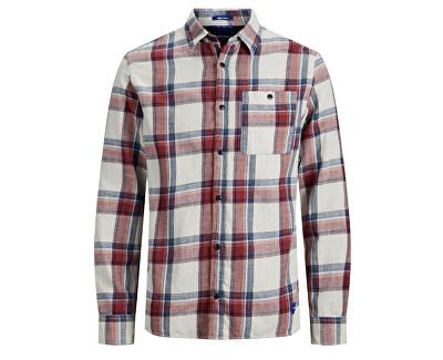 Pánska košeľa JORHENRI SHIRT LS ORG Brick Red