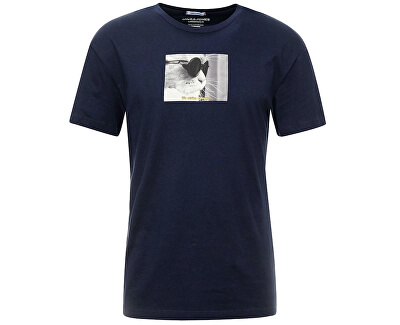 Pánske tričko JORGILBERT ANIMAL TEE SS CREW NECK Navy Blaze r