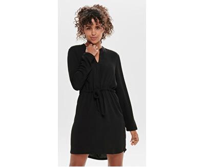 Dámske šaty JDYPOPPY L / S BELT DRESS WVN Black