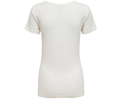 Dámske tričko Ava Ss Top Jrs Noos Cloud Dancer