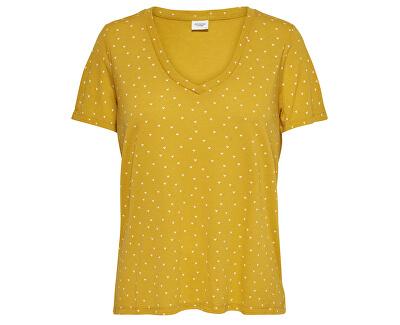 Tricou pentru femei Tricou S / S Aop V-Neck Jrs Noos Gold en Spice