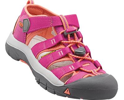 KEEN Detské sandále Newport H2 Very Berry/Fusion Coral KIDS
