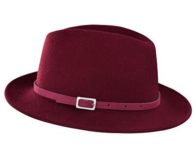 Dámsky klobúk - vínová