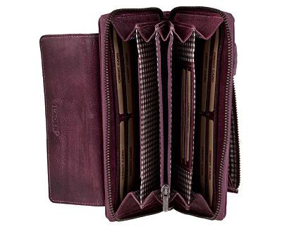 Női bőr pénztárca 786-017 / D Plum