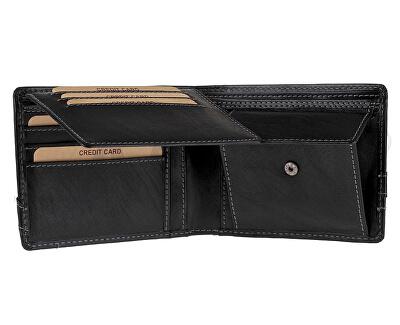 Kožená černá pánská peněženka 5103 W/T Black