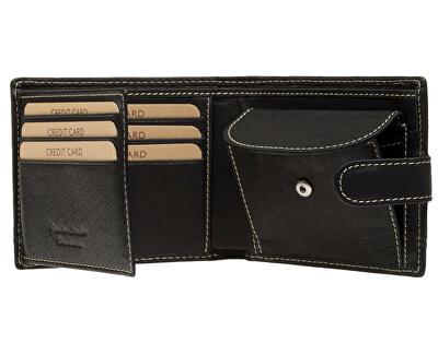 Pánska čierna kožená peňaženka Black 2004-3