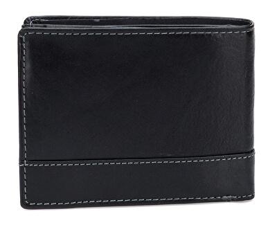 Pánská černá kožená peněženka Black V-76/T