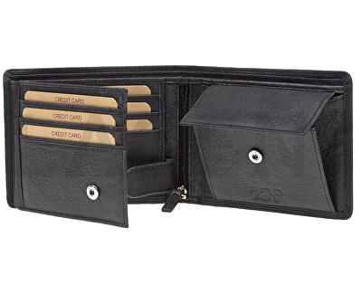 Pánska kožená peňaženka 103 Black
