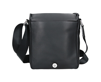 Pánská kožená crossbody taška 15016 - Blk