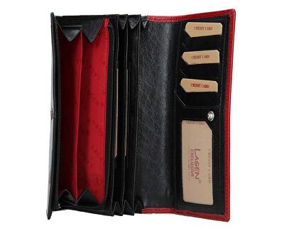 Dámská kožená peněženka BLC-4228-219 Blk/Red