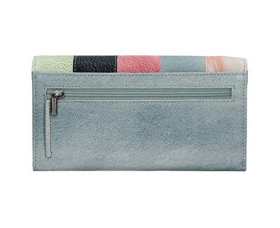Dámska kožená peňaženka V-17 Ocean Blue/Multi