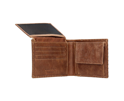 Pánská kožená peněženka 5435 Cognac