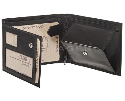 Pánska hnedá kožená peňaženka Brown V-3