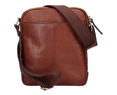 Bőr crossbody táska TAN 20654
