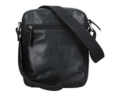 Pánská kožená taška 25919 Blk/Blue