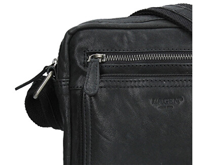 Pánská kožená taška BLC-4091-18 Blk