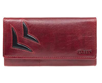 Női bőr pénztárca Red/Bl